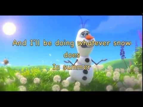 In Summer [from Frozen] (instrumental karaoke) (with lyrics)