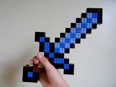 How to make a lego diamond sword from minecraft