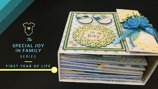 Baby Boy Album | DIY Baby Shower Gift Idea | Baby Boy Scrapbook | Customised Baby Album | Blackbands
