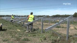 How to erect a solar power plant: reference project by mp-tec GmbH & Co.KG