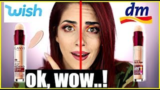 Das ist übel...😱WISH Make up VS DROGERIE Make up! Full face Vergleich! Luisacrashion