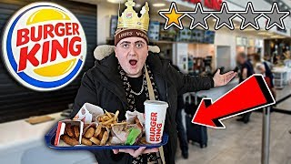 Reviewing The Worst Reviewed BURGER KING In My City!! *ENTIRE BURGER KING MENU* (1 Star Burger King)
