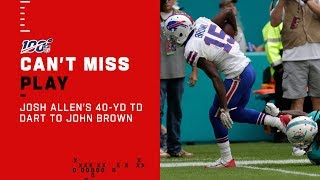 Josh Allen Throws 40-Yd TD Dart to John Brown