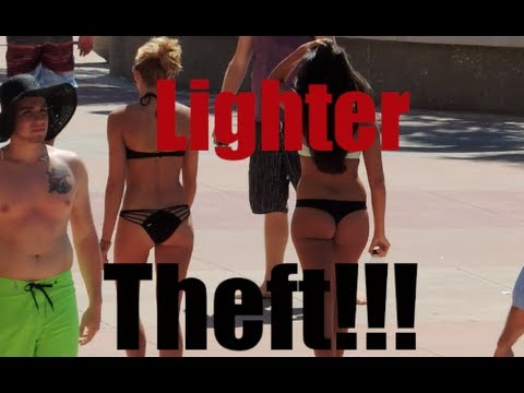 Prank Gone WRONG? Stealing Peoples Lighters Public