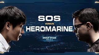 HeroMarine vs sOs TvP - Group B Elimination - 2018 WCS Global Finals - StarCraft II