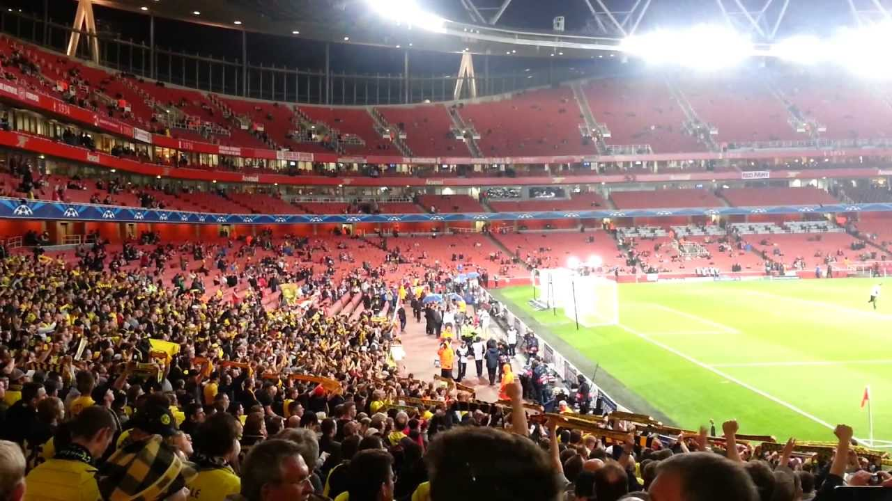 Dortmund Fans at Arsenal Bvb Arsenal London Dortmund