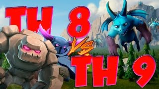 Clash of Clans : TH 8 VS TH 9 !