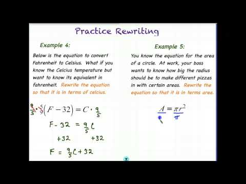 Lesson 1.5 - Solve & Rewrite Linear Equations