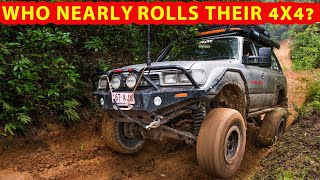 Inches away from rolling a 4WD - what happens next? Muddy, steep 4X4 tracks + EPIC campsites!