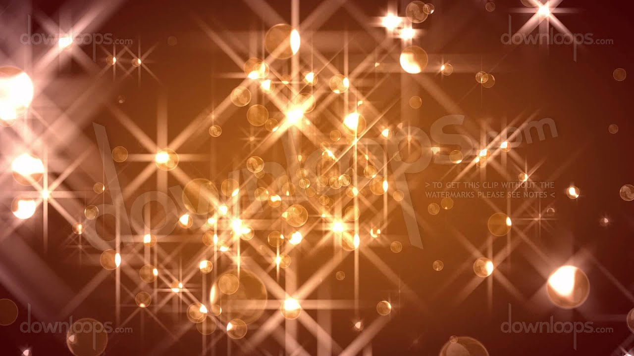 florbs glamorous golden christmas video loop animated