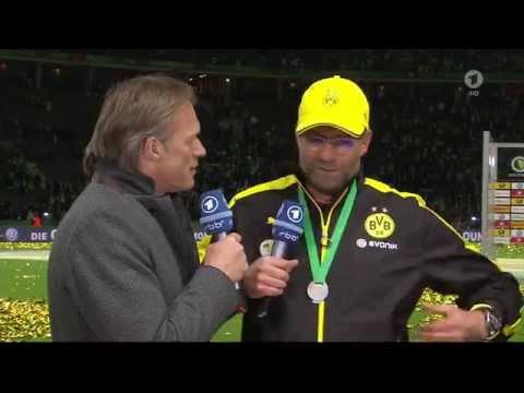 DFB POKALFINALE 2015 Jürgen Klopp letztes Interview für Borussia Dortmund