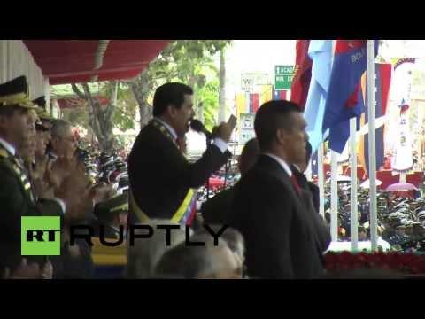 Venezuela: Military parade celebrates first anniversary of Chavez's death