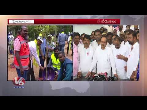 TRS Ministers Celebrates KTR Birthday Across Hyderabad City | V6 News