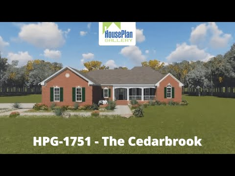 HPG-1751-1 1,751 SF, 3 Bed, 2 Bath Country House Plan by House Plan Gallery