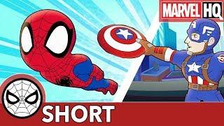 "Spidey to Cap: ""Roger That!""   Marvel Super Hero Adventures - LISTEN   SHORT"