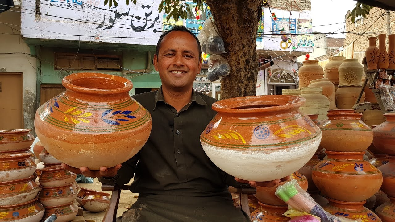Mitti ke Bartan In Pakistan | Different Type of Mud Pot Vessels and Price | Village Food Secrets