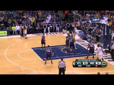 NBA Playoffs 2013: NBA Atlanta Hawks Vs Indiana Pacers Highlights April 21, 2013 Game 1