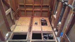 Bathroom Renovation & Tub to Barrier Free Shower Conversion (Part 15)..Rough In Plumbing