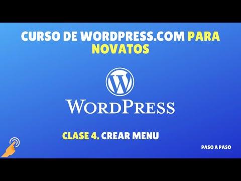 Curso Wordpress.com: Clase 4 - Crear un menú