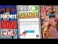 Fortnite News | Change your Email, Fortnite BAN In China, Gingerbread Pet, Map Change, Fixes & More!
