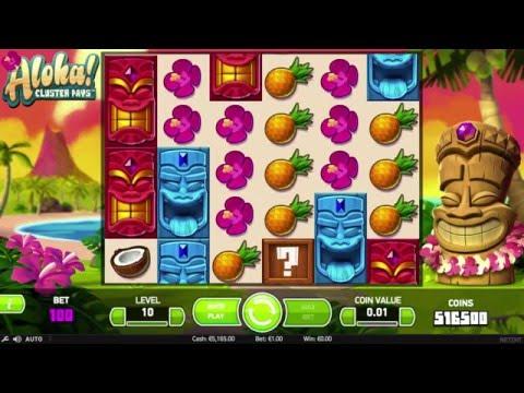 Игровой автомат Aloha Cluster Pays от NetEnt