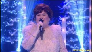 """Susan Boyle ~ ABBA """"Thank You For the Music"""" Christmas Party & The Kiss (24 Dec 15)"""