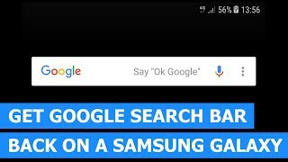 How to get the Google search bar back on a Samsung Galaxy (step-by-step)