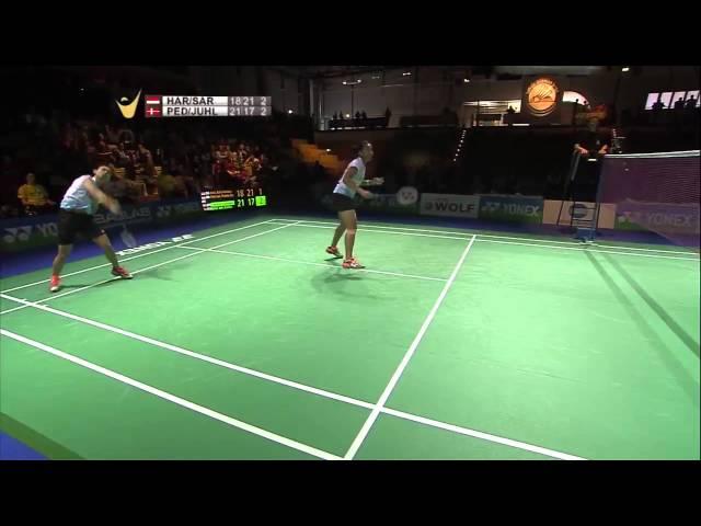 D. D. Haris/R. Eka Putri Sari vs C. Pedersen/K. R. Juhl   WD F Match 4 - YONEX German Open 2015