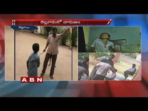 School principal  thrashes students,Videos leaked | Nellore