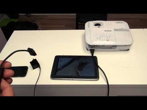 How to hook up a Samsung Galaxy 10.1 Tablet to a projector