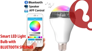 "Bluetooth Speaker Smart LED Light  Bulb ""Playbulb"" with app controller iPhone and Android controlled"