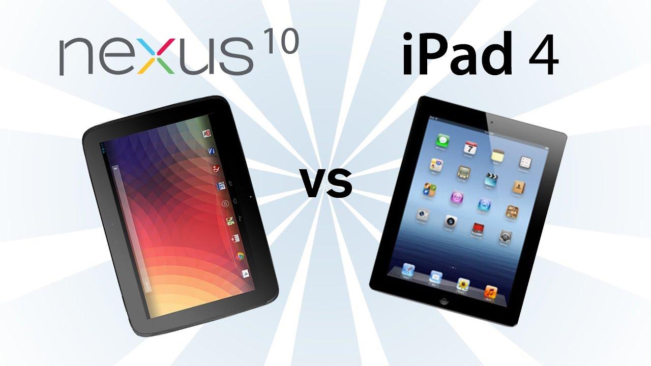 Nexus 10 vs iPad 4