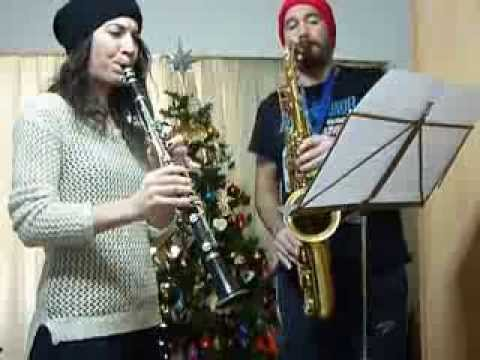 Deck the Halls Christmas Carol Clarinet & Tenor Sax duet