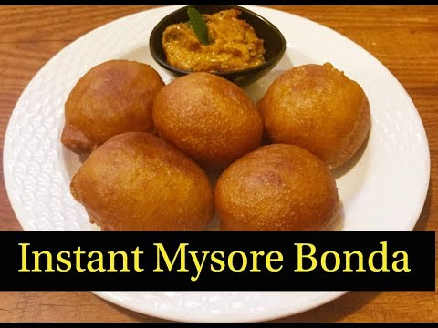 Instant Mysore Bonda Recipe | How to make Mysore Bonda - By Sritha's Kitchen