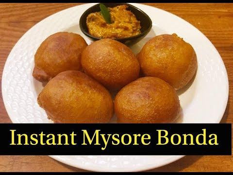 Instant Mysore Bonda Recipe | How to make Mysore Bonda - By Sritha's Kitchen