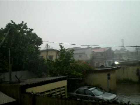 Rain in Lagos city, Nigeria