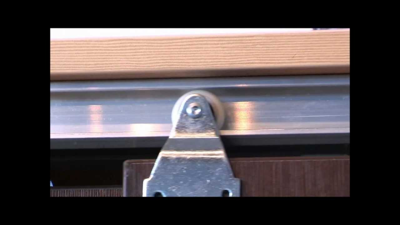 Horus Top Hung Sliding Door Gear Double Track For Walk In Wardrobe With No Track On The Bottom