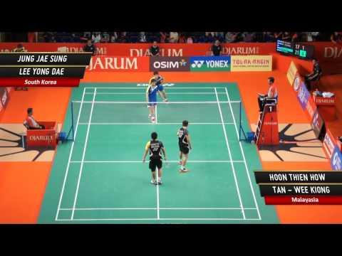 Jung Jae Sung/Lee Yong Dae (KOR) VS Hoon Thien H./ Tan -  Wee Kiong (MAL) Djarum Indonesia Open 2012