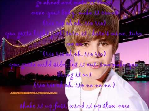 Justin Bieber Ft. Ester Dean - Take You To Rio (lyrics On Screen) video