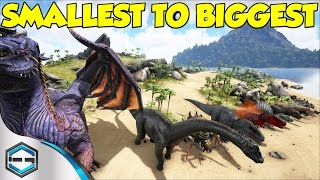 Ark Survival Evolved Smallest To Biggest Dino's & Information