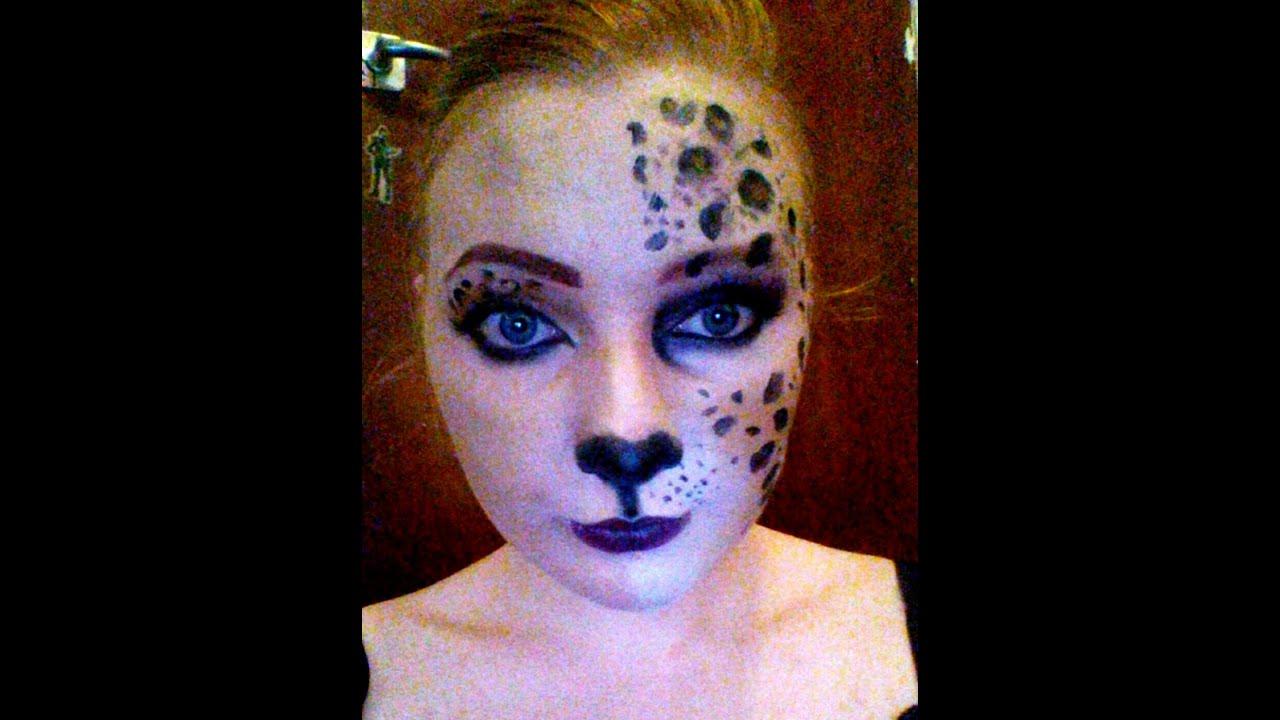 Leopard Half Face Paint Leopard Half Face Makeup