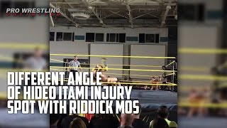 Different Angle Of Hideo Itami Injury Spot With Riddick Moss (Video)