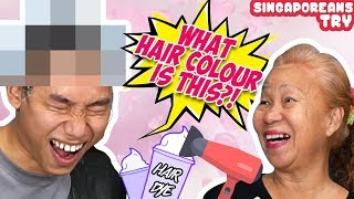 Singaporeans (Grandmas) Try: Dyeing Grandchild's Hair