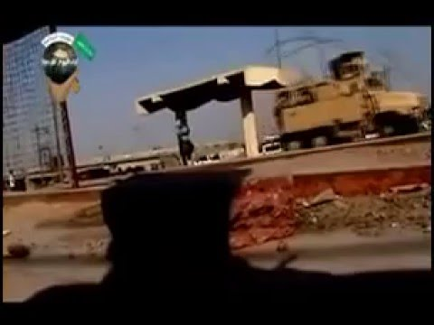 Only in Iraq Destroy US Armored vehicle