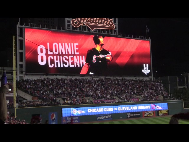 Cleveland Indians player introductions for game 6 of the World Series