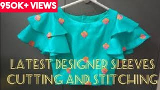 Designer Sleeves Cutting and Stitching/ Easy and Simple Method