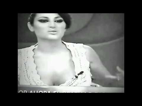 SEXY MEXICAN Weather girl top fly open EXPOSING BOOBS