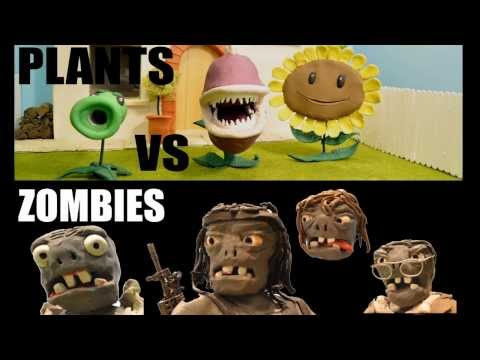 A Claymation. Plants vs Zombies Action