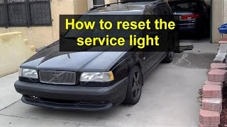 How to reset the service light on the Volvo 850, 1993, 1994 and 1995 year models. - Auto Care Series