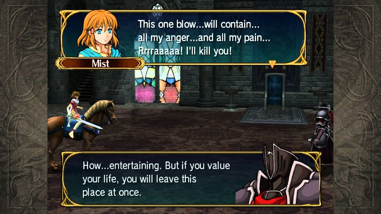 Misdub fire emblem path of radiance hd mist 39 s for Domon kasshu quotes